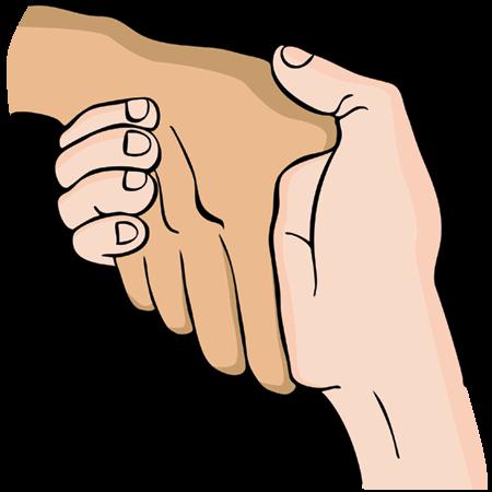 pevný stisk rukou